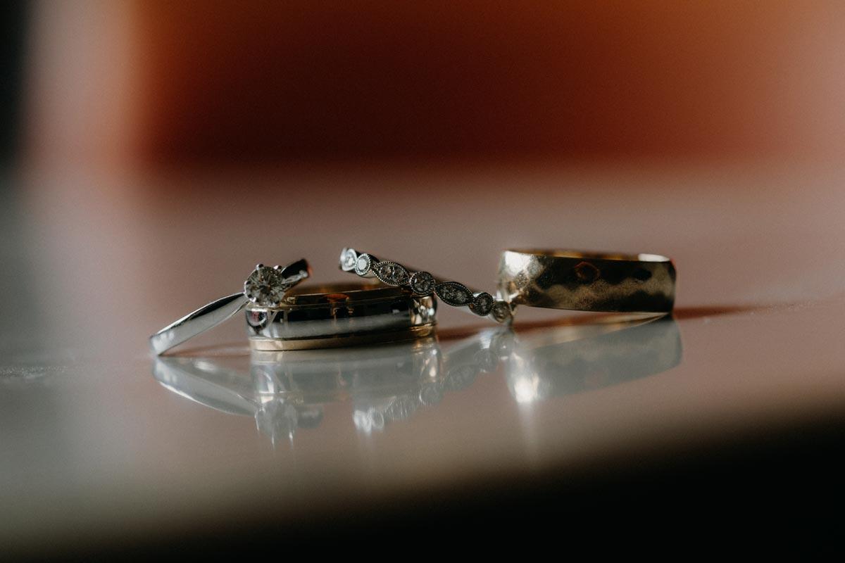 black barn wedding photo lake tarawera rotorua rings