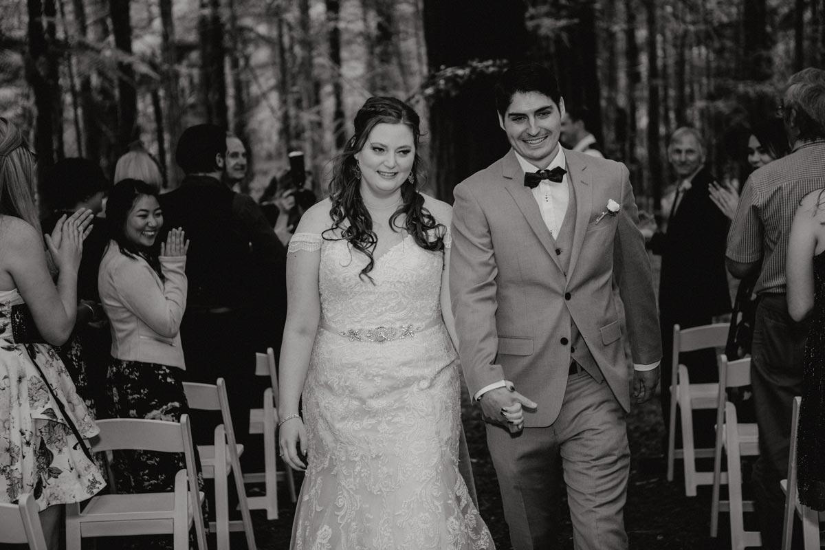 rotorua wedding photo redwoods under the sails ceremony sarah weber photography