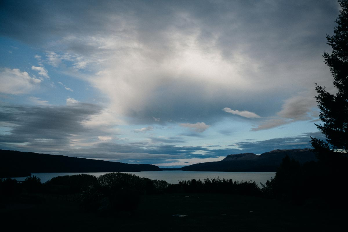 black barn wedding photo lake tarawera rotorua sun set