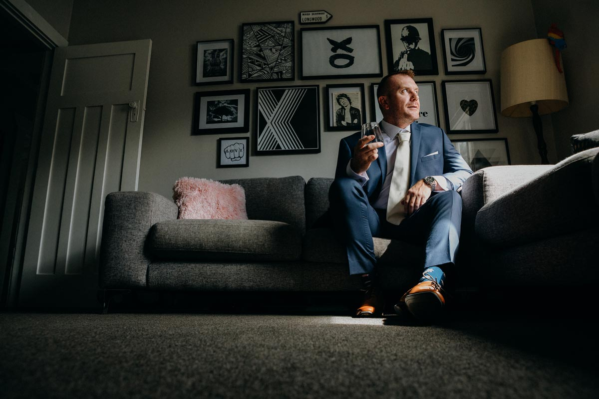 Chancery Chambers Wedding Auckland groom whiskey sarah weber photography