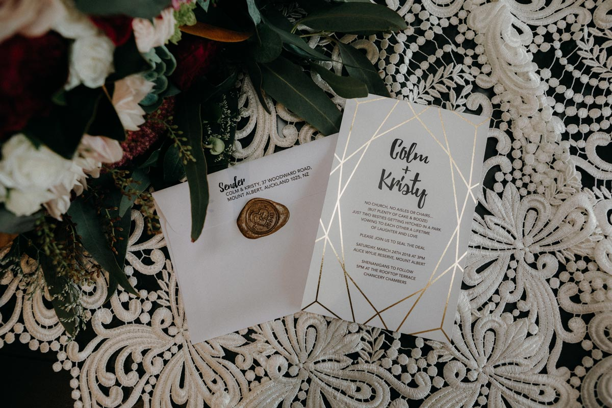 Chancery Chambers Wedding Auckland something and co wedding stationery sarah weber photography