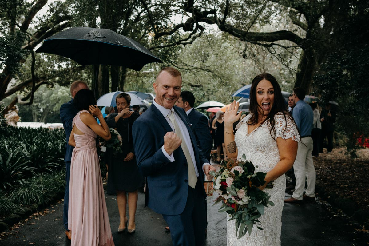 Chancery Chambers Wedding Auckland Alice Wylie Reserve Mount Albert rain ceremony Sarah Weber Photography