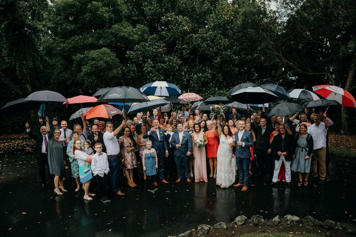 Chancery Chambers Wedding Auckland Alice Wylie Reserve Mount Albert rain ceremony Sarah Weber Photography