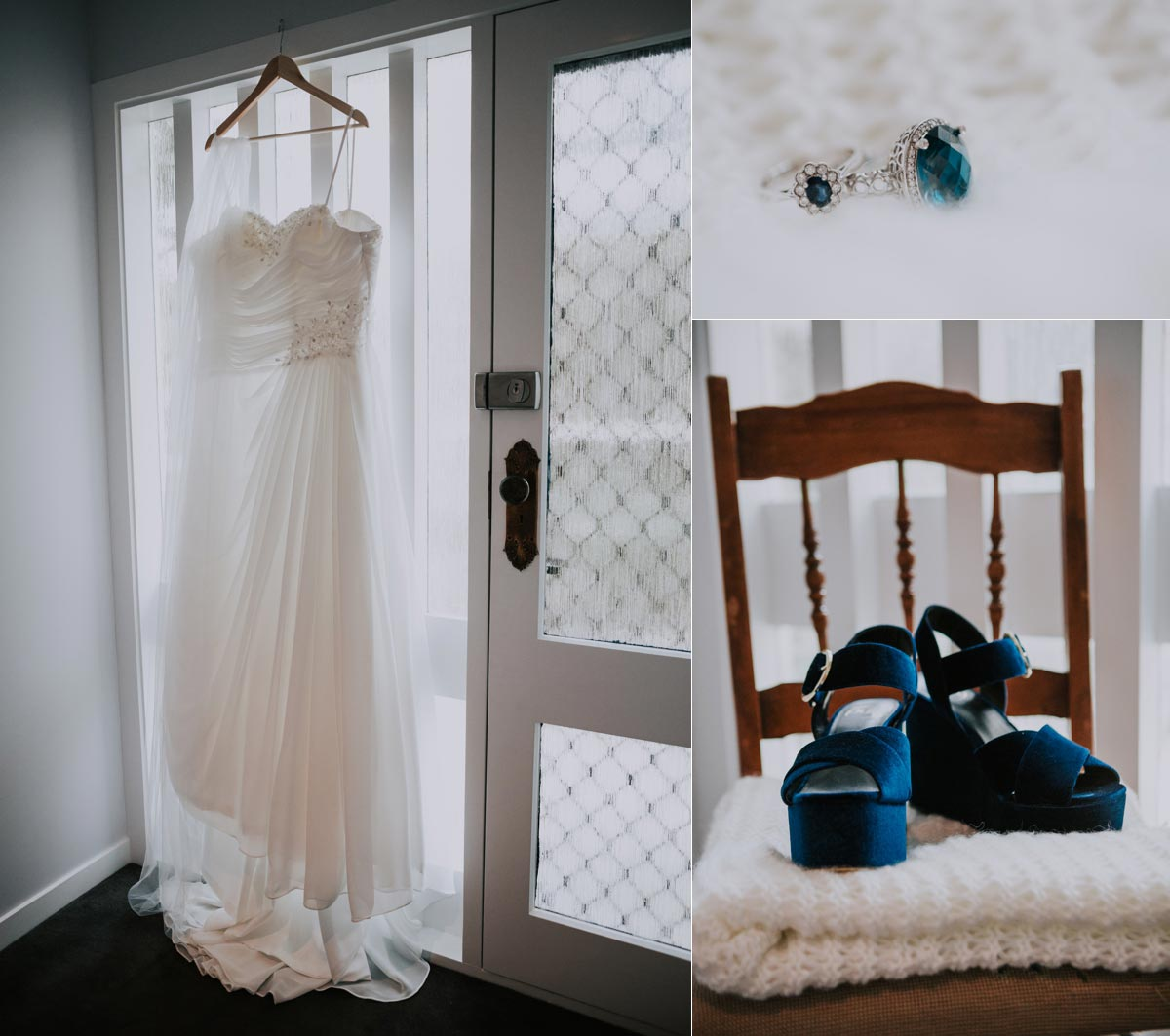 wedding dress shoes photo Markovina Vineyard Estate sarah weber photography