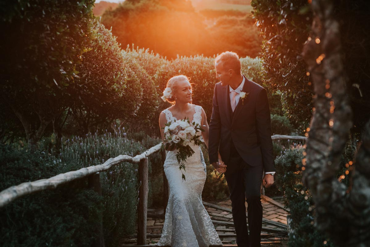 Mudbrick Wedding Waiheke Island auckland golden light photo