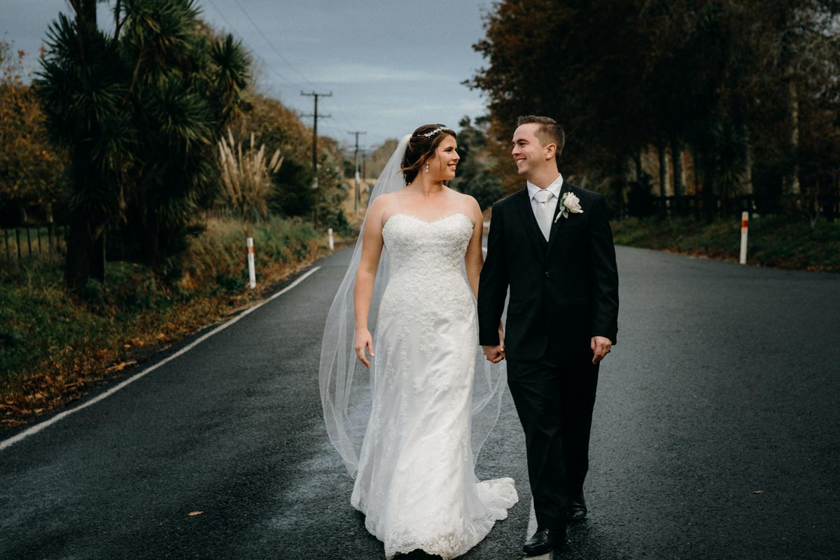 The Hunting Lodge Wedding Kumeu rain autumn leaves kumeu auckland sarah weber photography