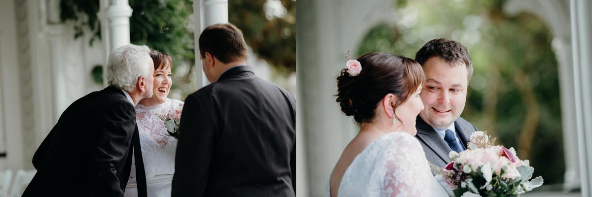 alberton wedding auckland ceremony bride and groom sarah weber photography