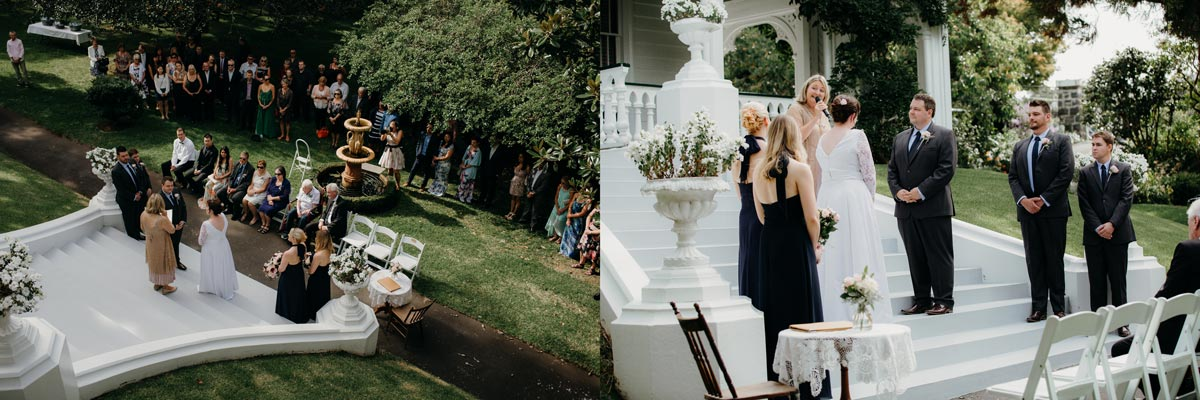 alberton wedding auckland ceremony histoical garden venue hire sarah weber photography