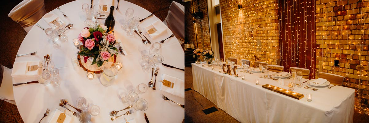 carringtons pumphouse wedding table decor auckland sarah weber photography