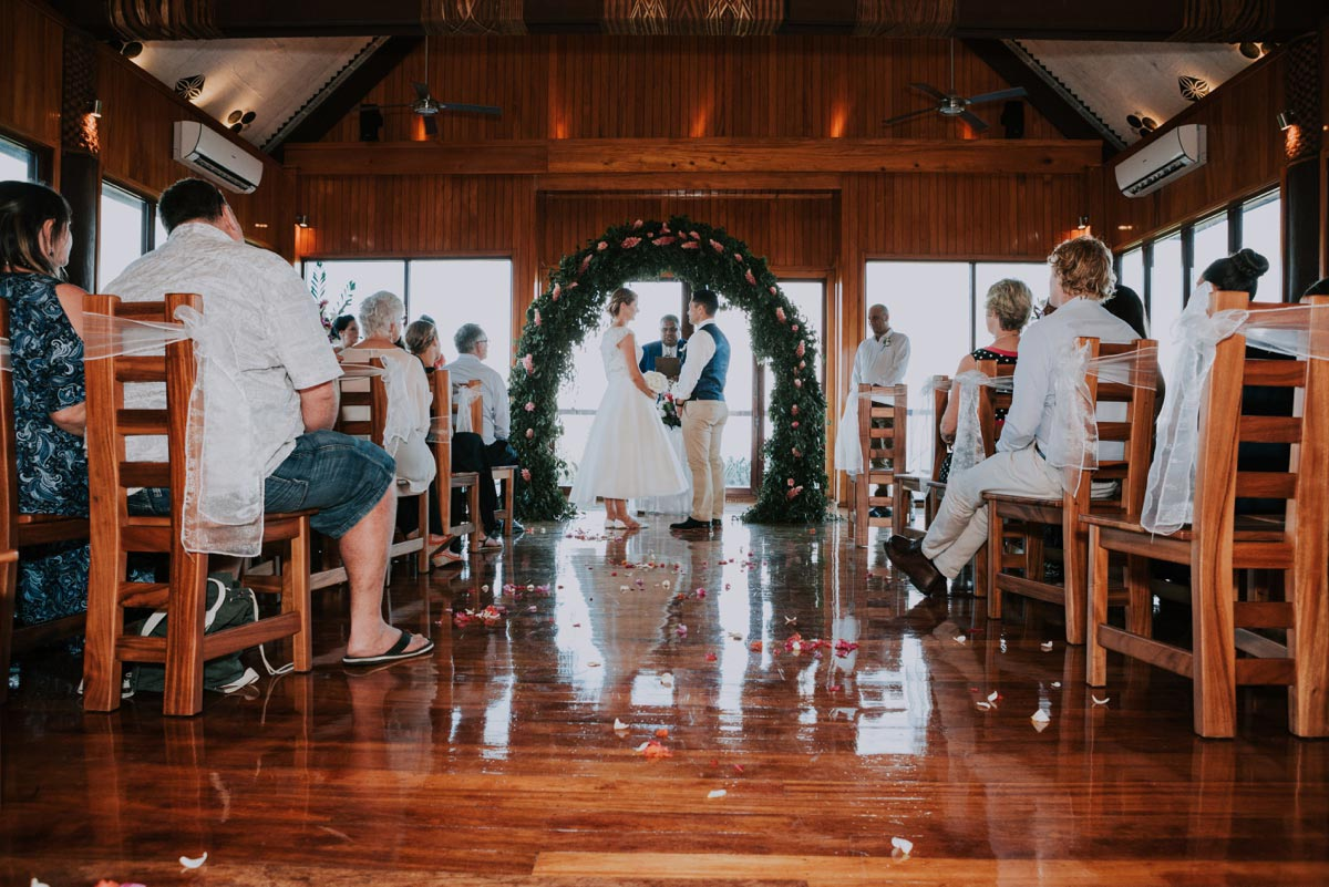 Outrigger weddings ceremony photos Fiji Beach Resort Bure Ni Loloma Chapel of Love