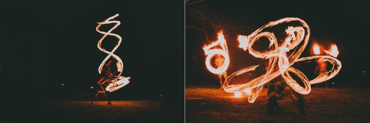 Outrigger Fiji Beach Resort weddings photos Vahavu fire dancing Coral Coast