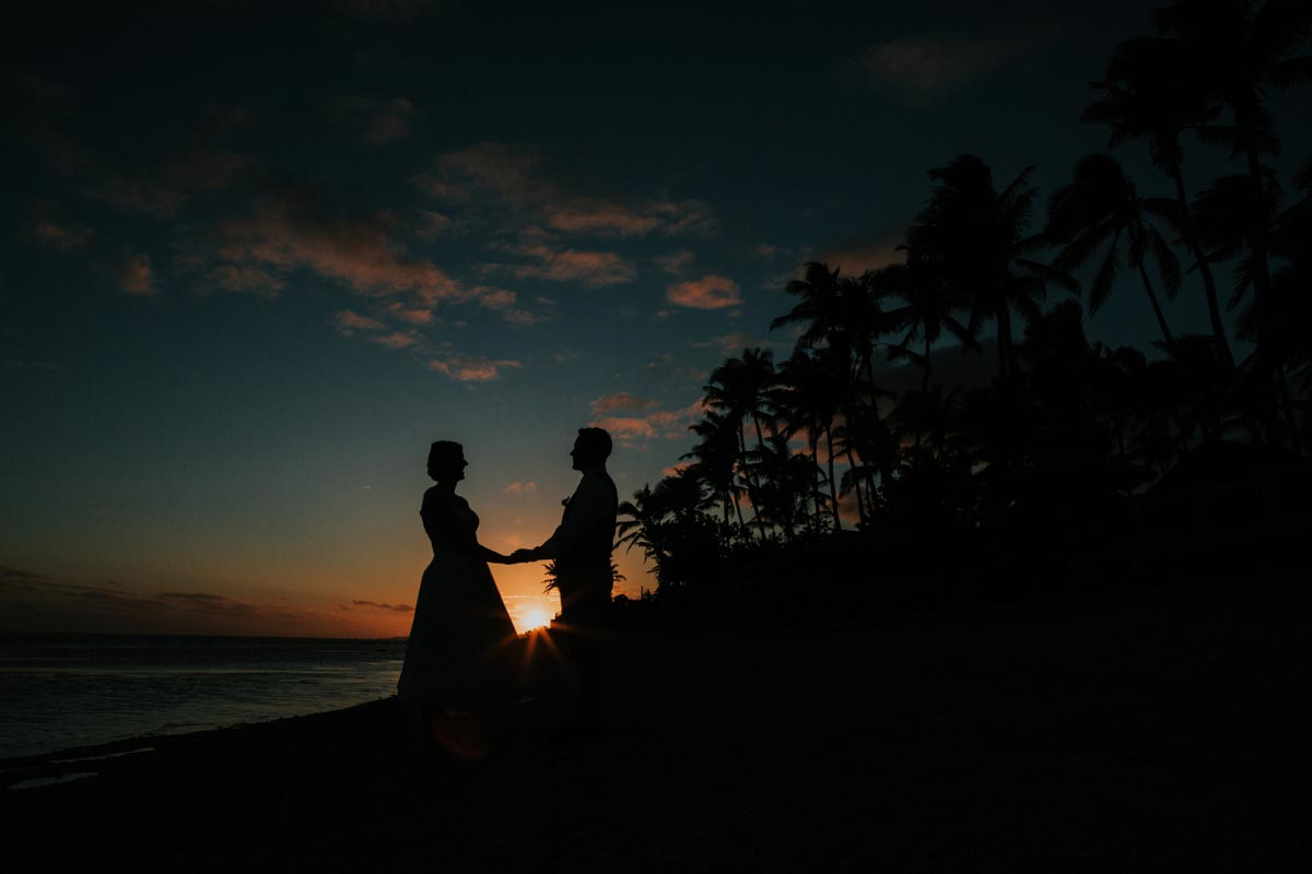 Outrigger Fiji Beach Resort weddings photos coral coast beach sunset goldenlight