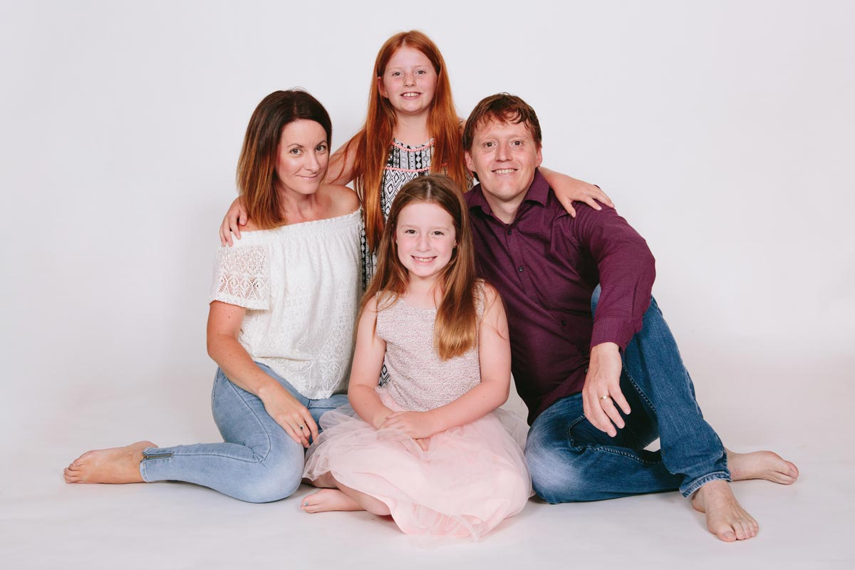 family portrait photoshoot sitting in west harbour studio photography auckland by sarah weber photography