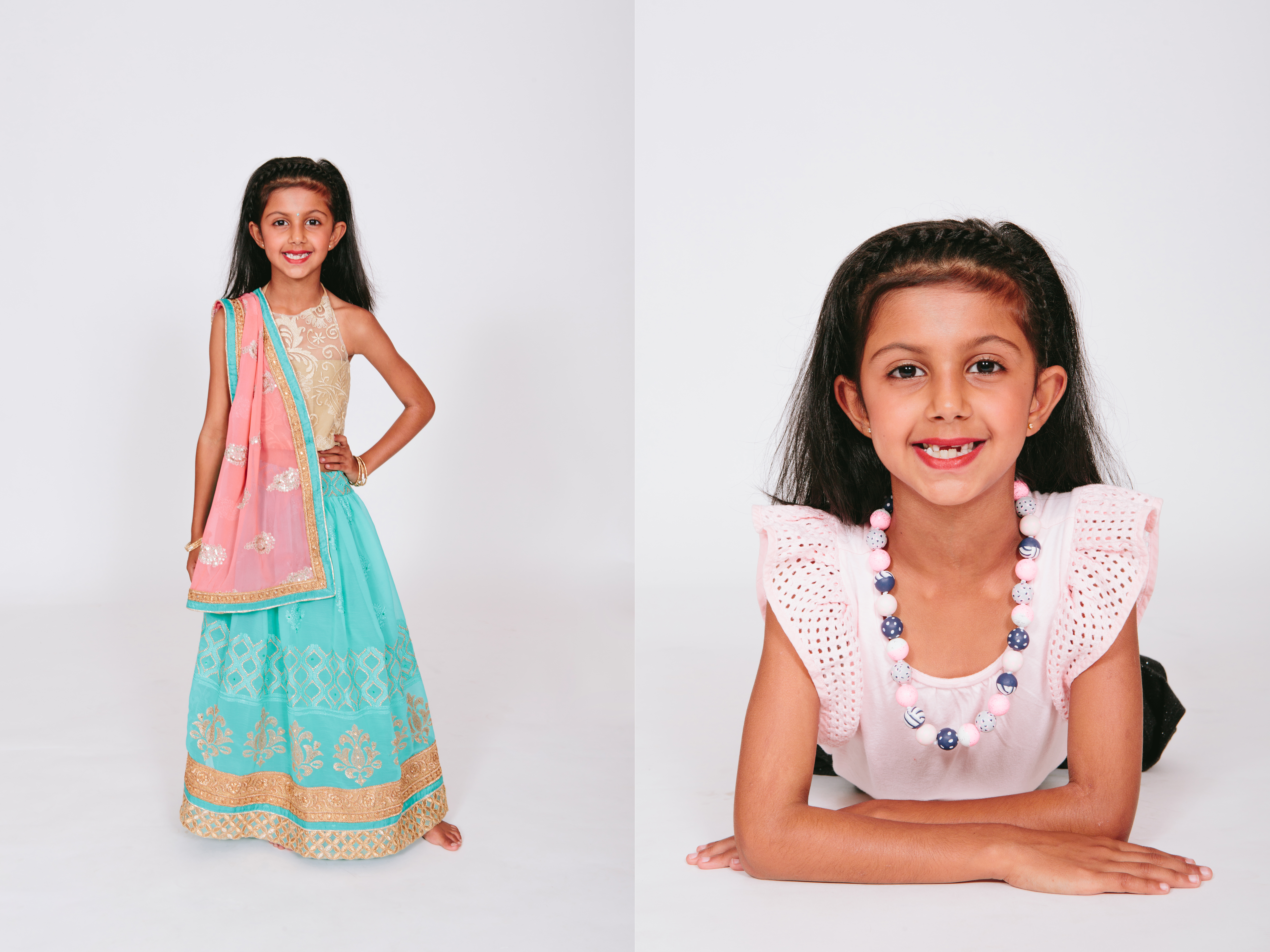 studio photography of individual indian children portrait during family photoshoot in west harbour auckland by sarah weber photography