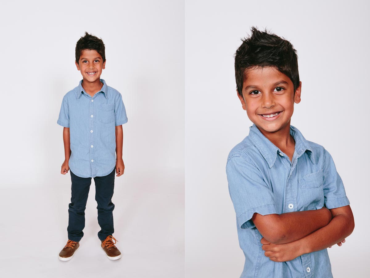 studio photography of indian individual children portrait during family photoshoot in west harbour auckland by sarah weber photography