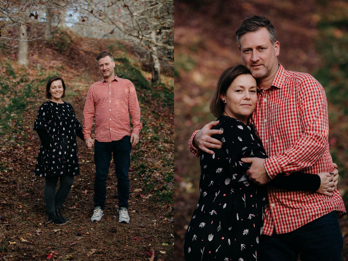 family lifestyle autumn couples portrait photo sessions in Rotorua centennial park by sarah weber photography