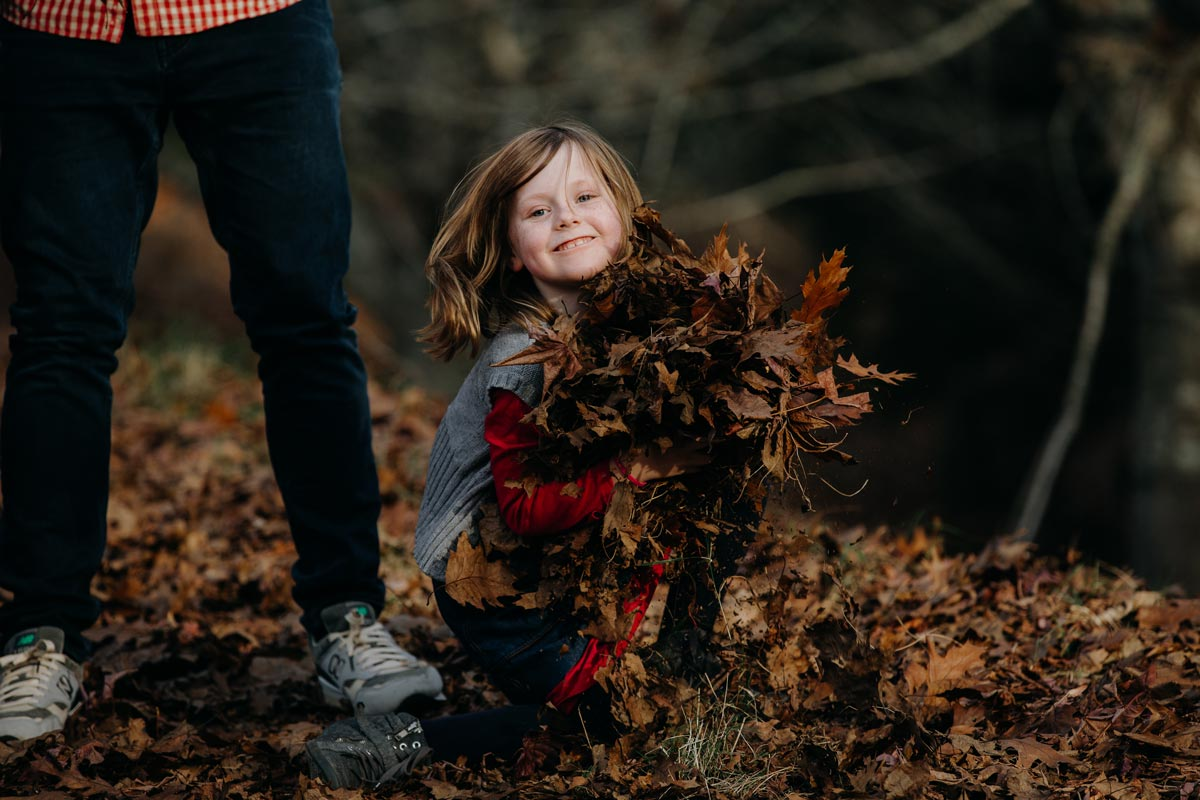family lifestyle autumn childrens portrait photo sessions in Rotorua centennial park by sarah weber photography