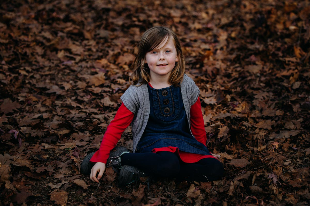 family lifestyle autumn childrens portrait photo sessions in Rotorua by sarah weber photography