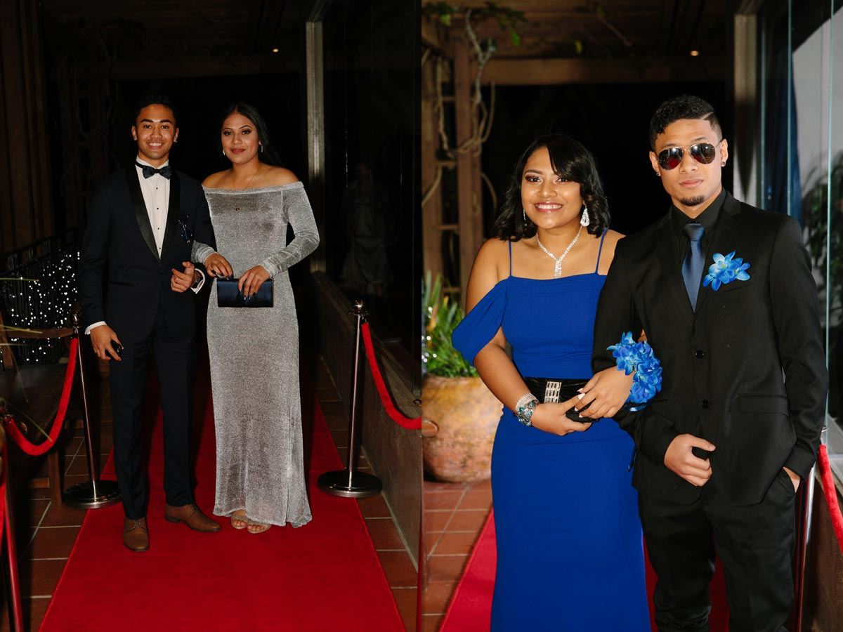 Red carpet Tamaki College School Ball sorrento in the park cornwall park auckland sarah weber photography