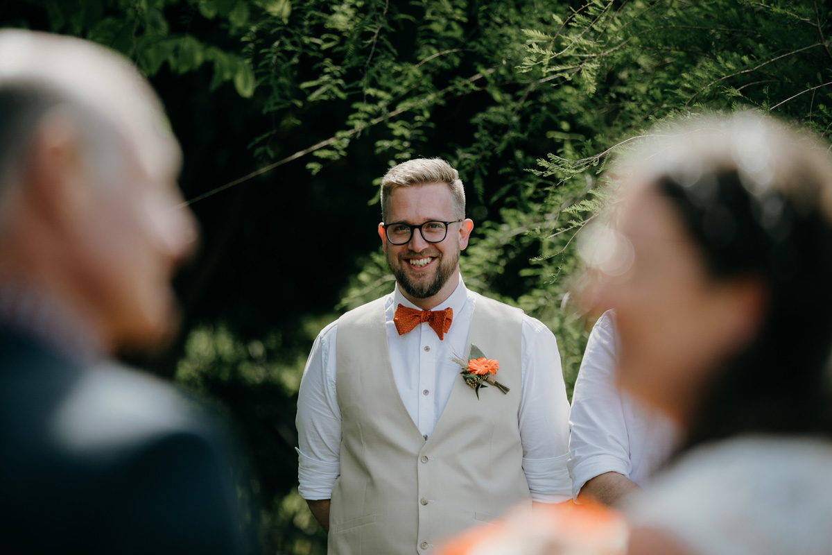 Coatesville settlers hall auckland groom sees bride by sarah weber photography
