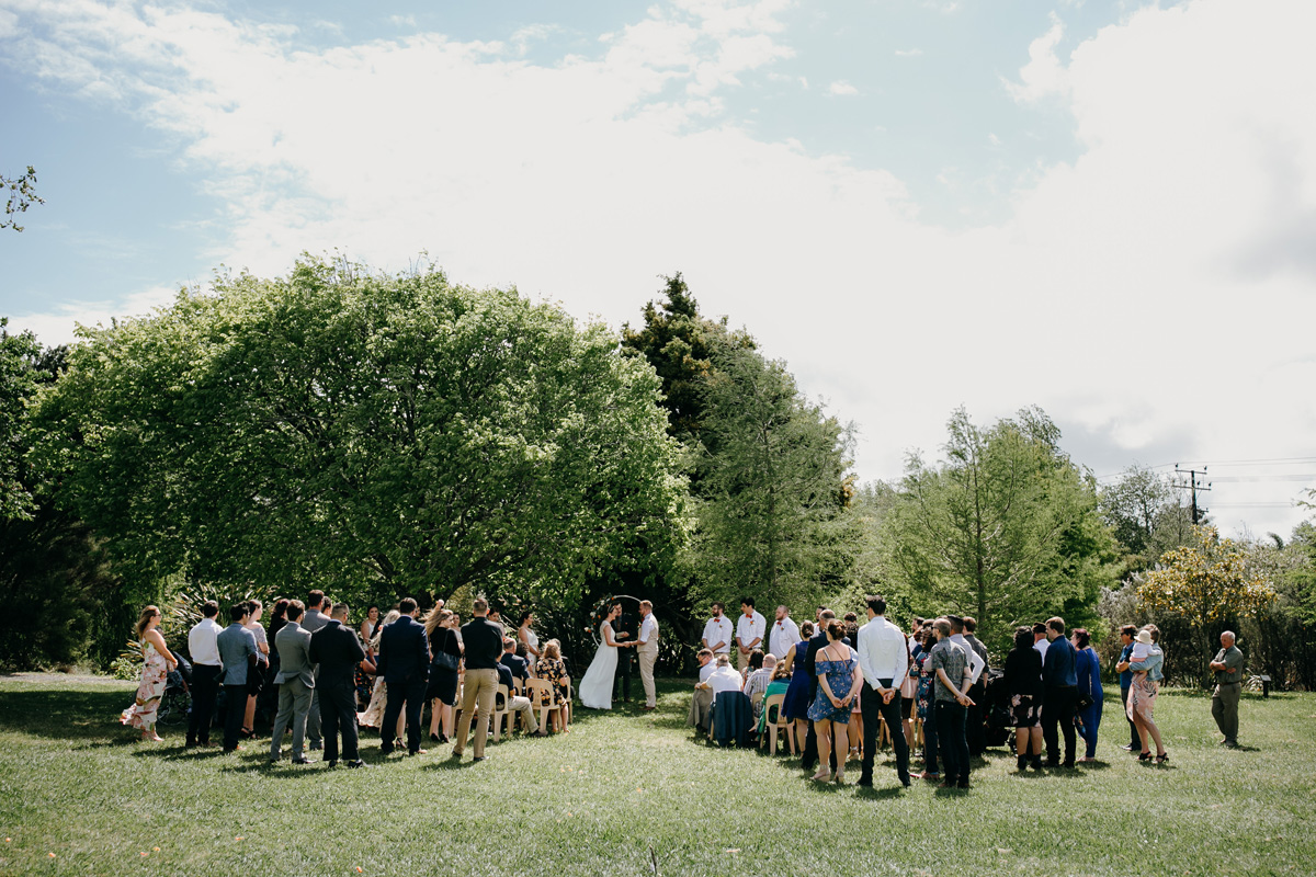 Coatesville settlers hall auckland wedding ceremony by sarah weber photography