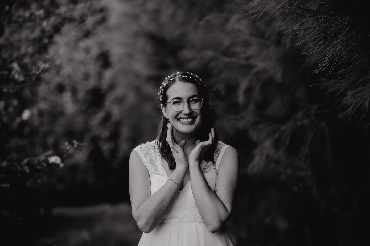 coatesville settlers hall wedding auckland bride in Windmill Orchards by sarah weber photography