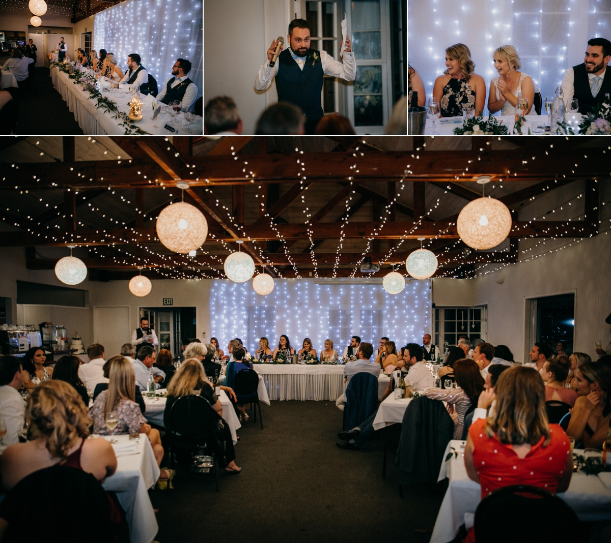 Bestman speech at The Brigham wedding reception venue in Whenuapai, Auckland photo by Sarah Weber Photography