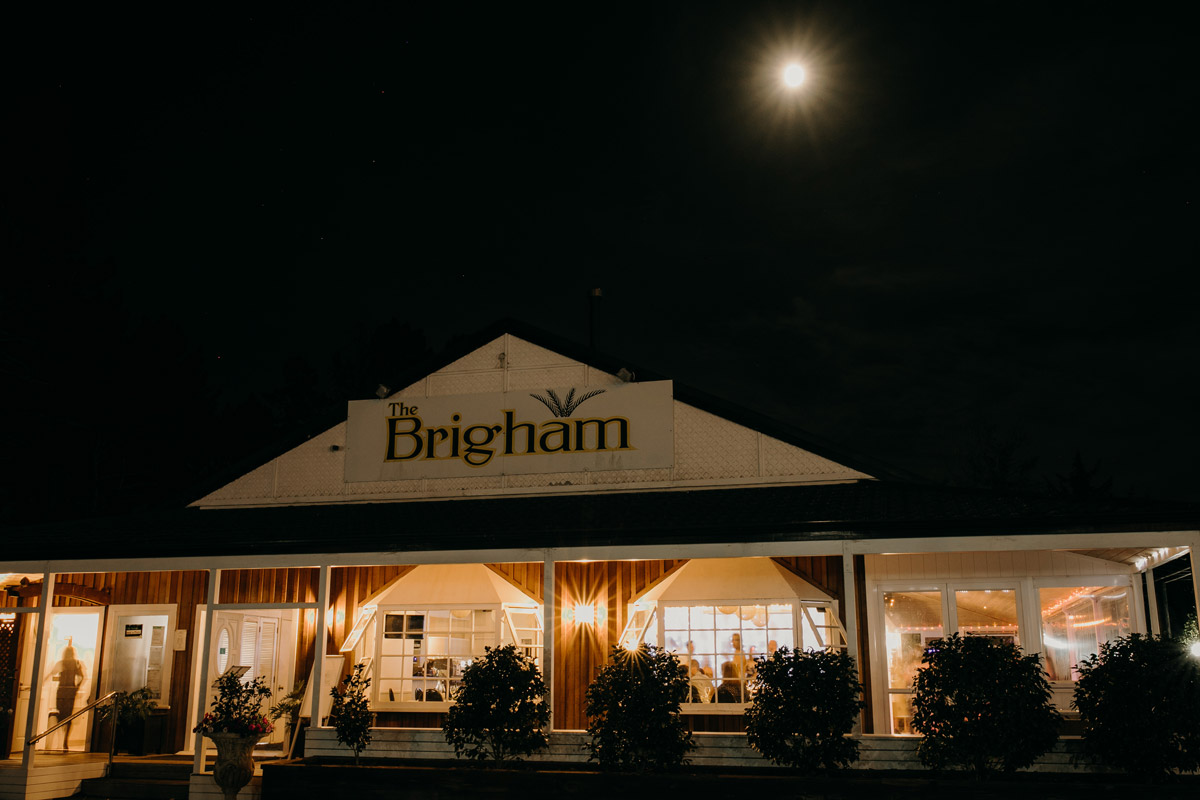 The Brigham Restaurant and Cafe Whenuapai West Auckland at night photo by Sarah Weber Photography