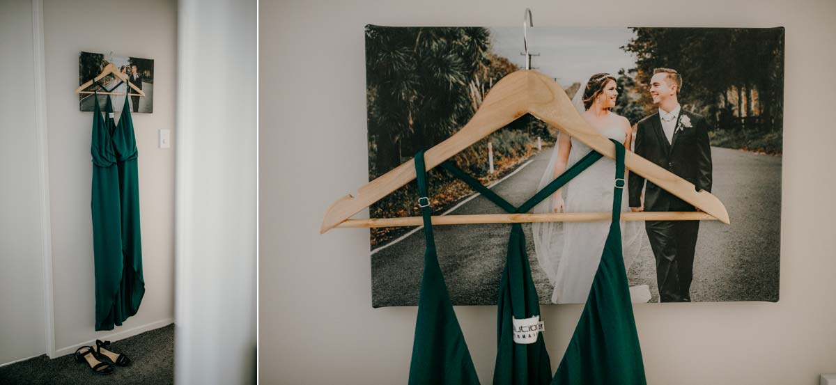 green evolution bridesmaid dress for bridgewater country estate wedding. Garden venue in Kaukapakapa, Auckland photo by sarah weber photography
