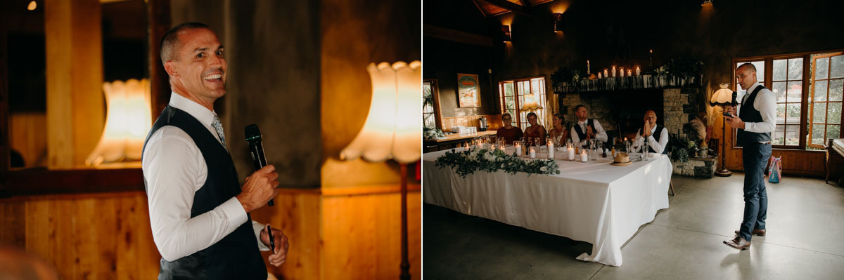 bestman speech at the stables matakana wedding venue photos by sarah weber photography